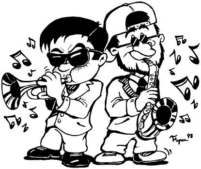 Cartoon Jazz Band This is a Cool Jazz Band Logo